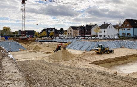 Baustelle: Wohnprojekt Wohnen im Hochfeld