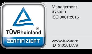Siegel: Verfuß ist TÜV Rheinland zertifiziert