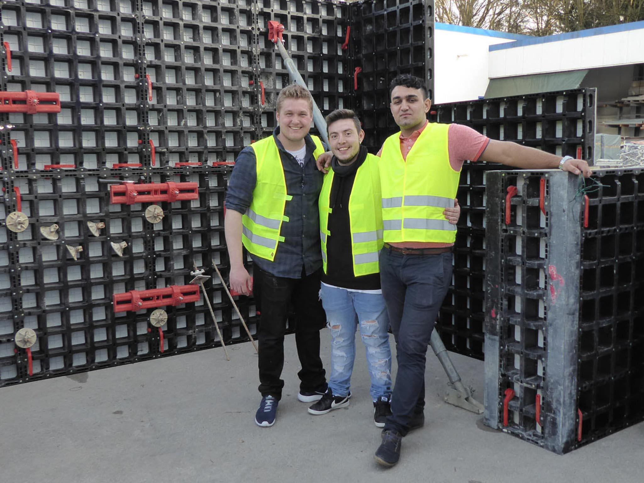 Mitarbeiter von Verfuß auf der Baustelle