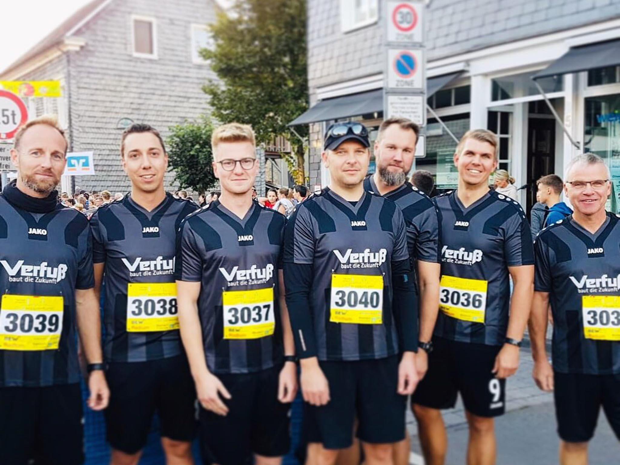 Laufteam gesponsort von Verfuß
