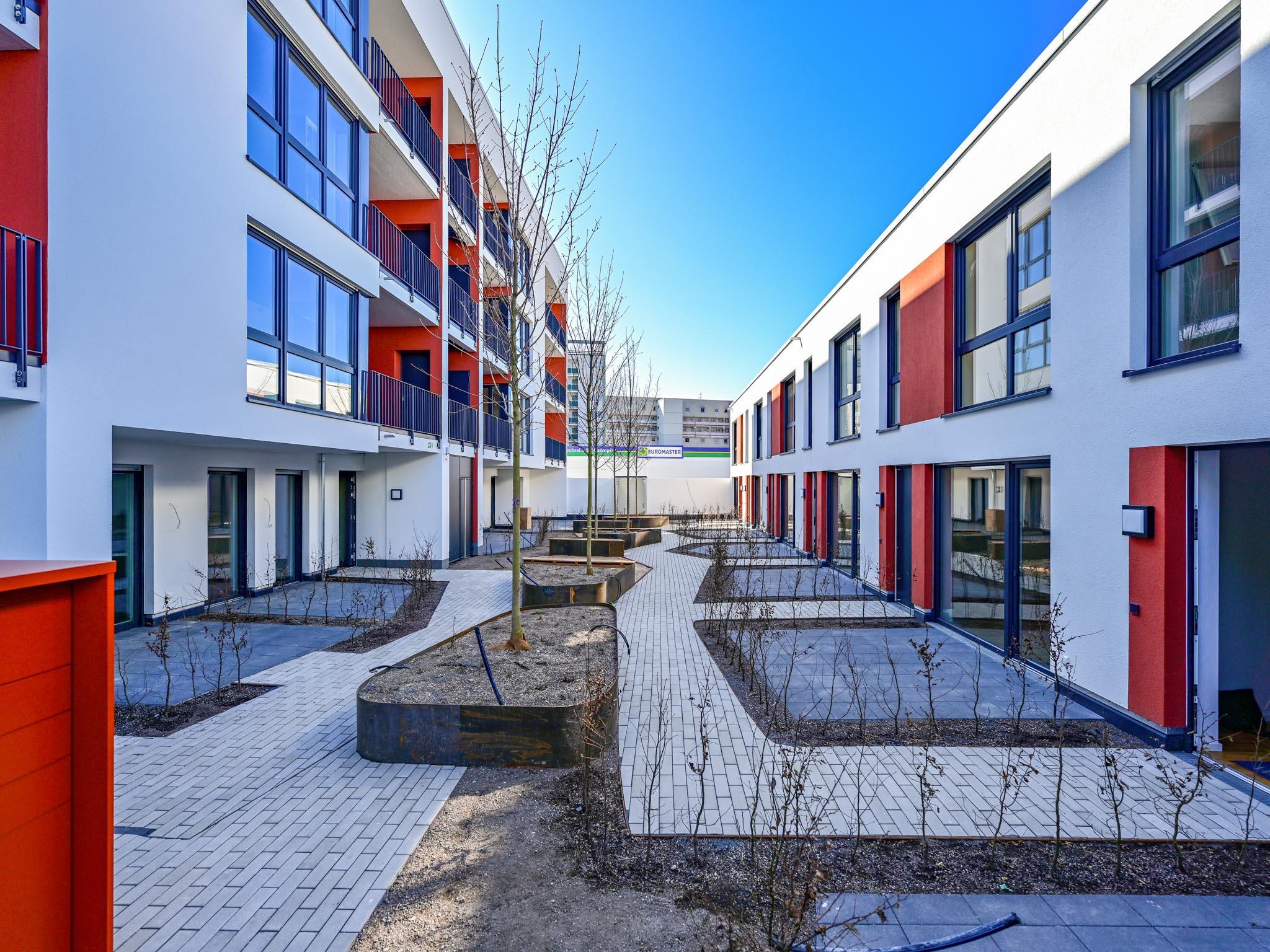Wohnungsbau mit Verfuß